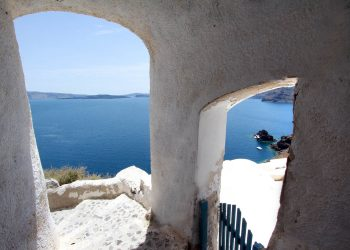 Blu Bianco Cave House Location Oia Santorini
